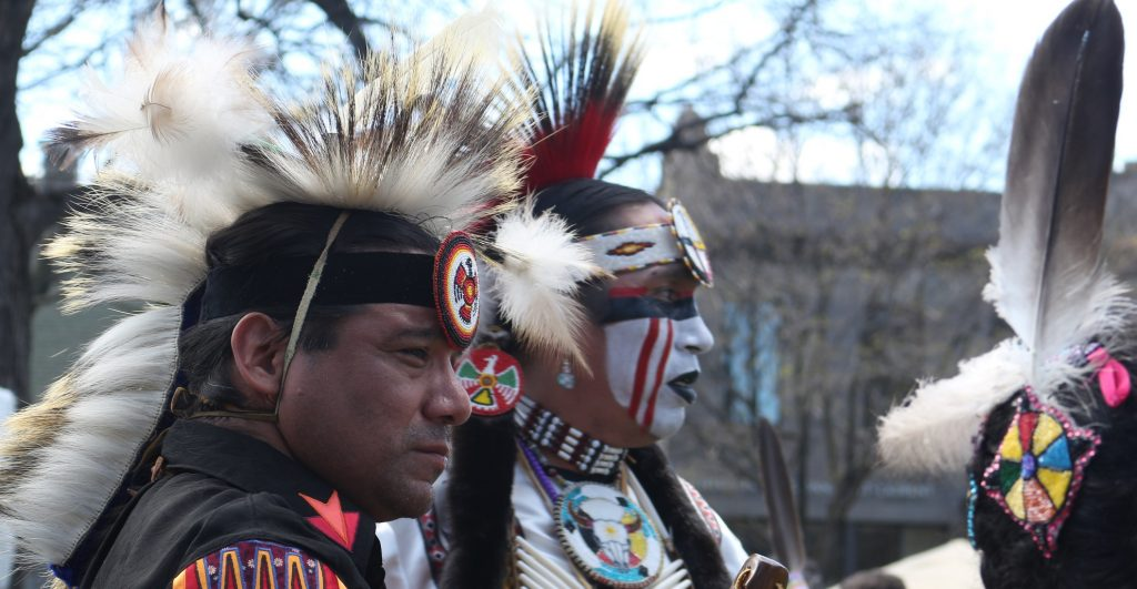 En allant au Pow Wow - photo Edith Gaudy